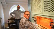Organist Arjan Wegerif en Harm Jan Kanis (foto: Jan van Kleef)